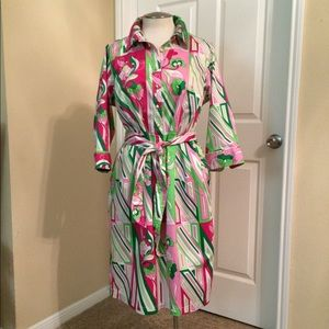 Talbots Print Shirt Dress